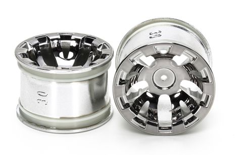 Tamiya 54831 - T3-01 - Rear Rim for Spike Tires - 30mm - Chrome Plated (2 pcs)
