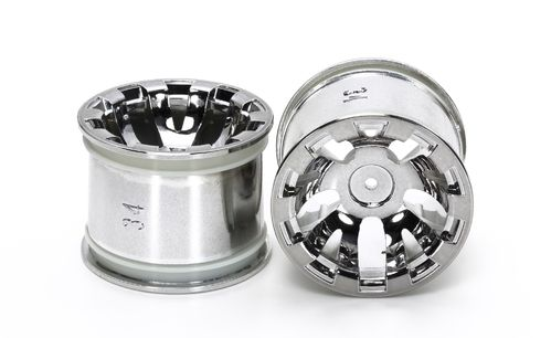 Tamiya 54833 - T3-01 - Rear Rim for Spike Tires - 34mm - Chrome Plated (2 pcs)