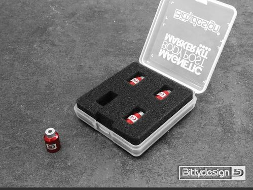 BittyDesign BDBPMK10-R - Body Post Marker Kit - red (4 pieces)