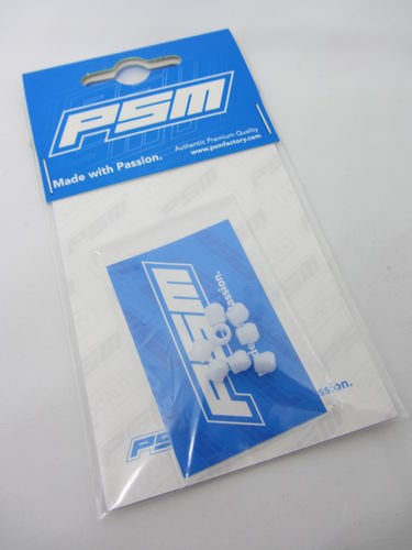 PSM PS02085 - Tamiya TA07R - Low Friction Suspension Balls POM White (8 pieces)