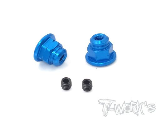T-Work's TA-129-B - Handle Nuts - for SANWA M17 - BLUE (2 pcs)