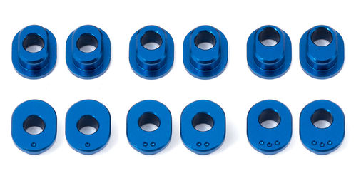 Team Associated 4746 - RC12R6 - Factory Team Bushings Spurbreite Alu Blau (1-3 Dot - 4 Stück pro)