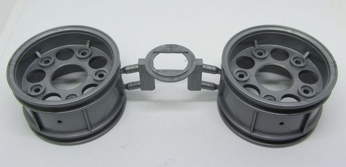 Tamiya 0440610 - Touring Car Rims Case - 30mm - grey - Porsche GT2 (2 pcs)