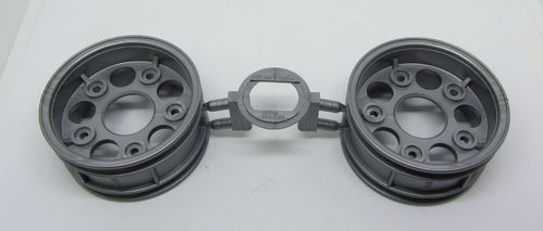 Tamiya 0445925 - Touring Car Rims Case - 26mm - grey - Porsche GT2 (2 pcs)
