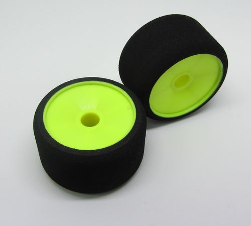 MobGums - 1:12 Foam Tires - front - GREEN (2 pcs)