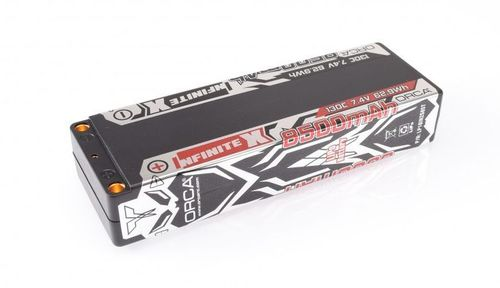 ORCA - INFINITE X - 8500mAh 7.4V 130C - Hardcase LiPo Battery - Stick Pack