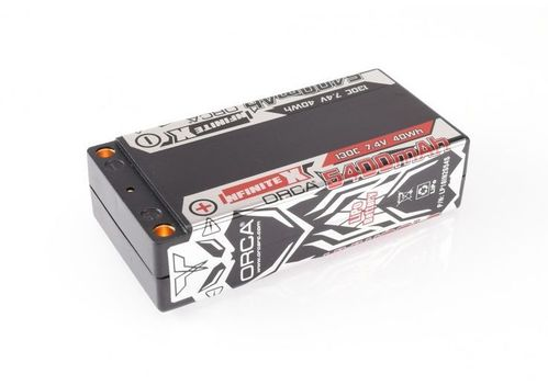 ORCA - INFINITE X - 5400mAh 7.4V 130C - Hardcase LiPo Battery - Shorty