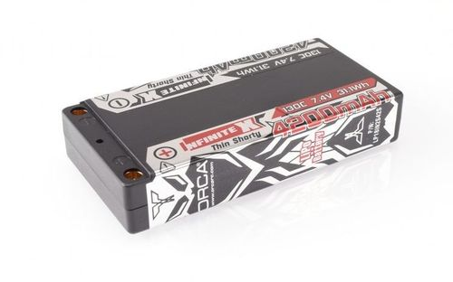 ORCA - INFINITE X - 4200mAh 7.4V 130C - Hardcase LiPo Battery - LCG Shorty