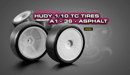 HUDY 803062 - A1-36 - Asphalt Tires 24mm - XRS legal Wheels (4 pcs)