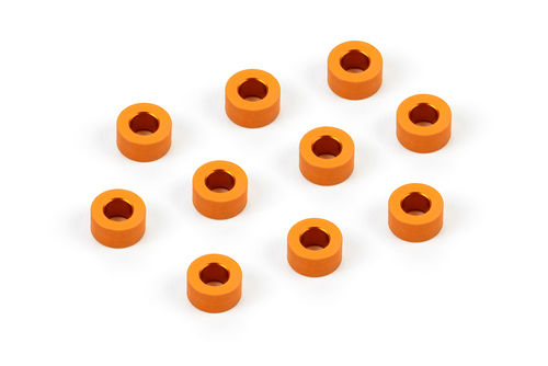 XRAY 303125-O -  Alu Shim 3x6x3.0mm (10 pieces) - ORANGE