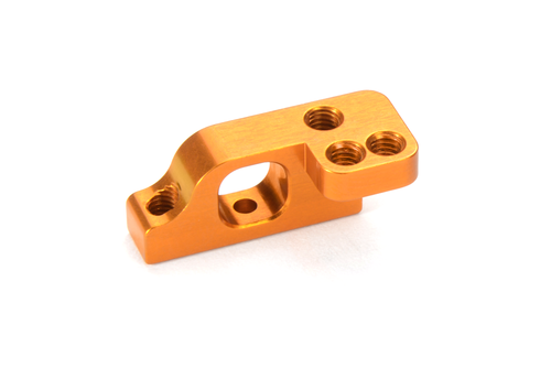 XRAY 303716-O - T4 2019 - Alu Lower 2-Piece Suspension Holder for ARS - Right - Low - ORANGE