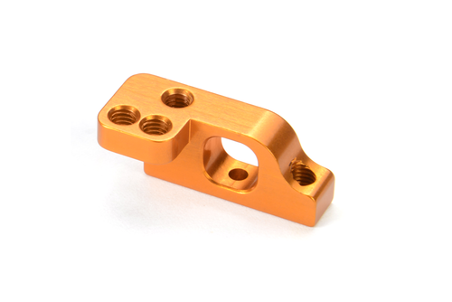 XRAY 303717-O - T4 2019 - Alu Lower 2-Piece Suspension Holder for ARS - Left - Low - ORANGE