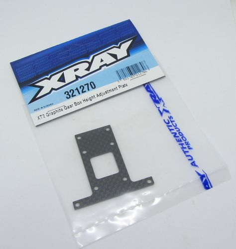 XRAY 321270 - XT2 - Graphite Gear Box Height Adjustment Plate