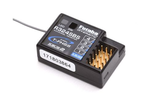 Futaba P-R324SBS - R324SBS - 2.4 GHz 4-Channel Receiver - T-FHSS