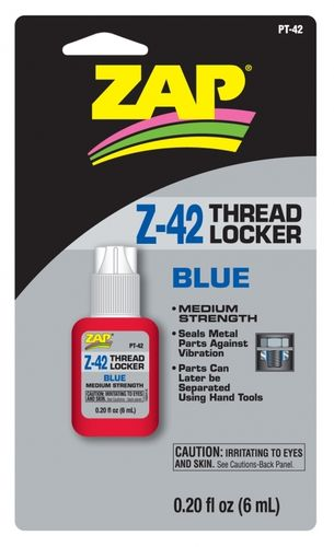 ZAP PT-42 - ZAP Z-42 - Thread Locker - Medium Strength -BLUE (6ml)