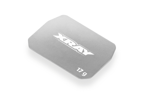 XRAY 326183 - XB2 - Stainless Steel Weight - 17g - Front-Middle