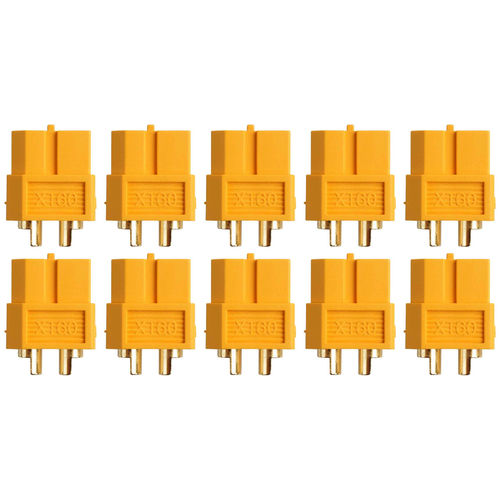 Yuki Model AM-627-10F - Gold-Connector - XT60 (10x female)
