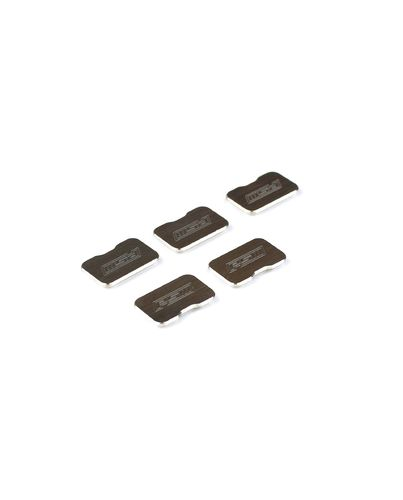 PSM PS02285 - Brass Weight Inlays - for PSM DTC TC TA-07 Chassis - silver
