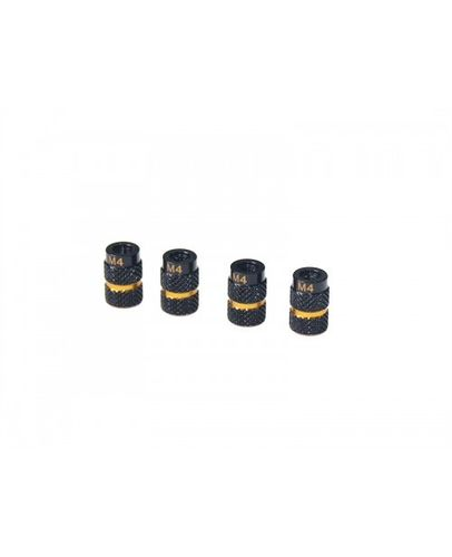 Arrowmax 171048 - Alu Nut for 1/10 SET-UP System Black/Golden (4 pieces)