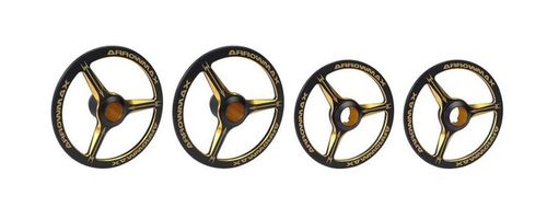 Arrowmax 171008 - 1/8 Alu Setup Wheels for onroad - black/golden (4 pieces)