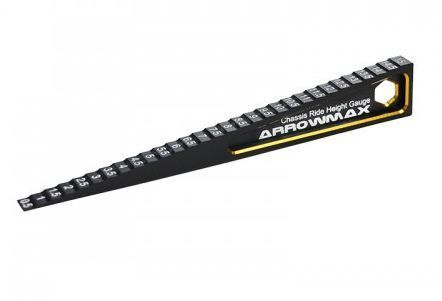 Arrowmax 172001 - Ultra-Fine Chassis Ride Height Gauge 0.5-15MM Black Golden