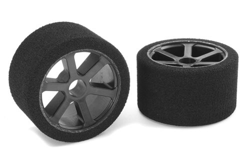 Corally 14720-35 - ATTACK Foam Tires - 1/12 Front - 35 Shore Double Pink
