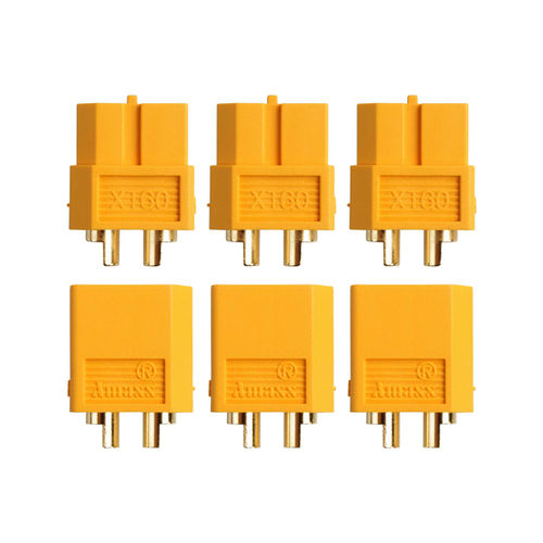 Yuki Model AM-627-3P - Goldkontakt - XT60 - Stecker + Buchse (3 Paare)