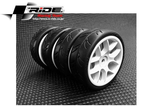 RIDE RI-26072 - 1/10 Touring Car Tires - PreGlued - FWD Tires (4 pcs.)