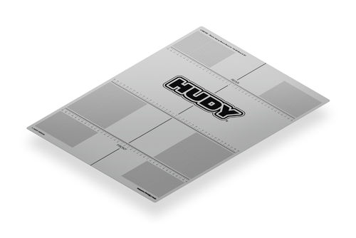 HUDY 108760 - PLASTIC SET-UP BOARD DECAL FOR 1/8 Offroad + GT