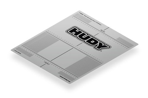 HUDY 108660 - PLASTIC SET-UP BOARD DECAL FOR 1/10 Offroad Buggy