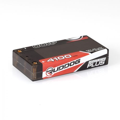 Ruddog Products 0169 - GRAPHENE PLUS 100C LiHV LiPo Battery - 4100mAh - 7.6V -  Shorty 2S