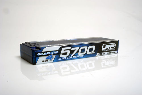LRP 431282 - HV Ultra LCG Modified Graphene 4 - 5700mAh - 7.6V LiPo - 120C/60C - 234g