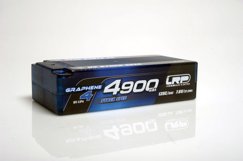 LRP 431284 - HV LCG Stock Spec Shorty Graphene 4 - 4900mAh - 7.6V LiPo - 135C/65C - 210g