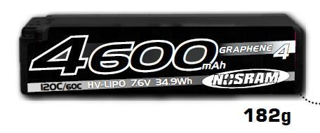 NOSRAM 999660 - HV LCG Modified Shorty Graphene 4 - 4600mAh - 7.6V LiPo - 120C/60C - 186g