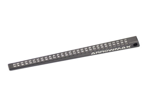 Arrowmax 170019 - Ultra Fine Chassis Ride Height Gauge 2 - 8mm (0.1mm)