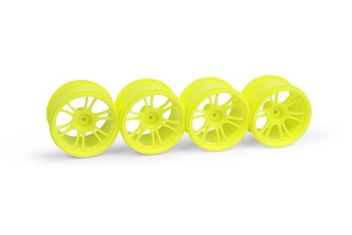 XRAY 389949 - XRAY M18MT STARBURST WHEELS - YELLOW (4)