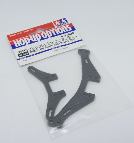 Tamiya 47440 - TRF420 / - Graphite Shock Tower - for longer shocks - front + rear