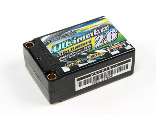 Nano-Tech NC2600 - 2600mAh 2S Super-Shorty Hardcase 7.4V LiPo Akku - 90C