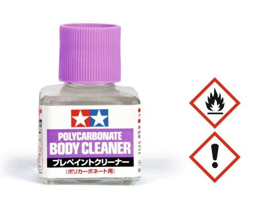 Tamiya 87118 - Polycarbonat Body Cleaner - removing colour from the body - 40ml bottle