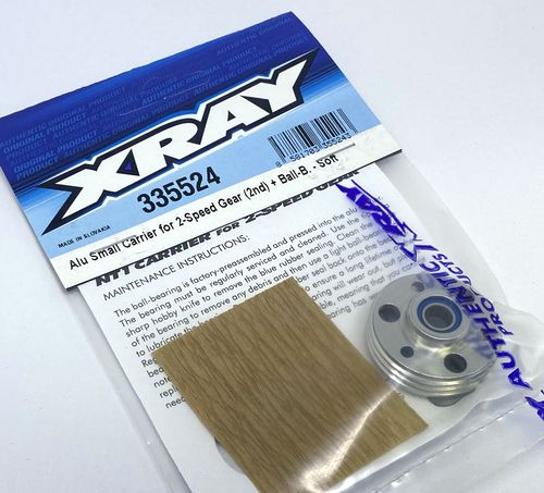 XRAY 335524 - NT1.3 - Alu 7075 T6 Small Carrier for 2-Speed Gear (2nd) soft + Ball-B.