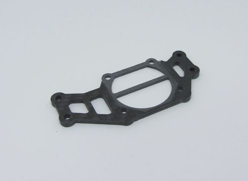 TRR-RaceStuff AE-F0006 - Graphite Diffuser Mount Plate for Asso F6 with fan holder