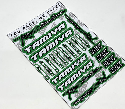 RCK 200018 - Sticker Sheet RC-KleinKram / Tamiya - black/white - GREEN