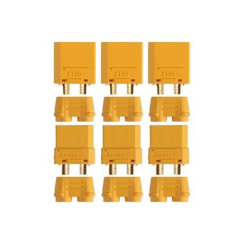 Yuki Model AM-630-3P - Goldkontakt - XT90 - Stecker + Buchse (3 Paare)