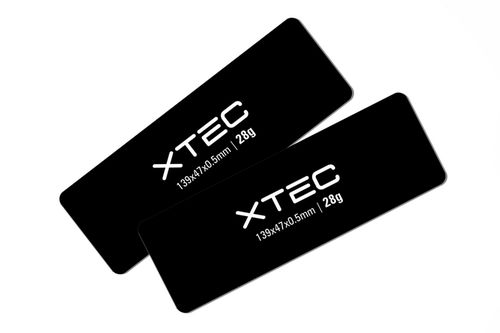 LRP 430110 - XTEC CCL Battery Weight - 139x47x0.5mm - 28g (2 pieces)