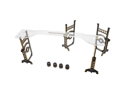 Arrowmax 171042-LE - Setup System for 1/8 Offroad Cars incl. Bag - Black Golden Honeycomb