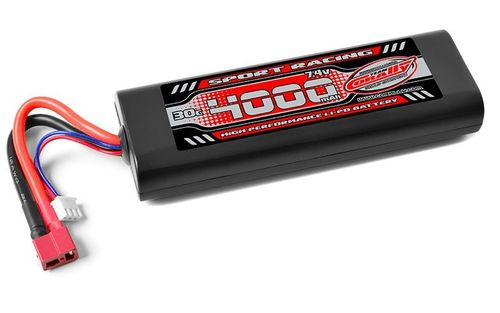 Corally 49024-D - Sport Racing 30C LiPo Battery - 4000mAh - 7.4V - Sub-C Stick 2S