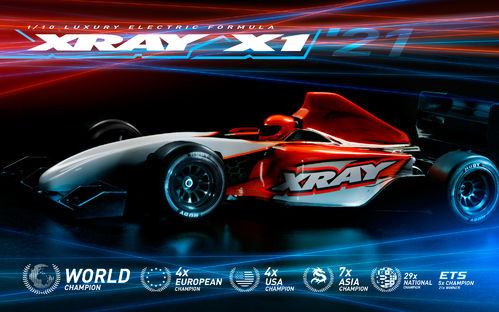 XRAY 370706 - X1 2021 - 1:10 Formula One - Car Kit including Body and wings
