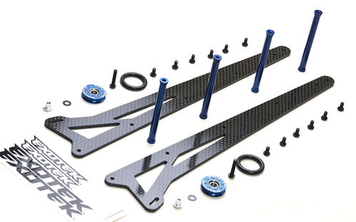 Exotek 1980 - Traxxas Slash - Wheelie Leiter Bar Set - Zwei Räder - Carbon - einstellbar
