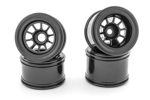 Sweep SW-F1W - 1/10 Fomula 1 Front and Rear Wheels - Black (4 pieces)
